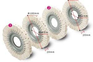 Полировальный круг с металлической оправой